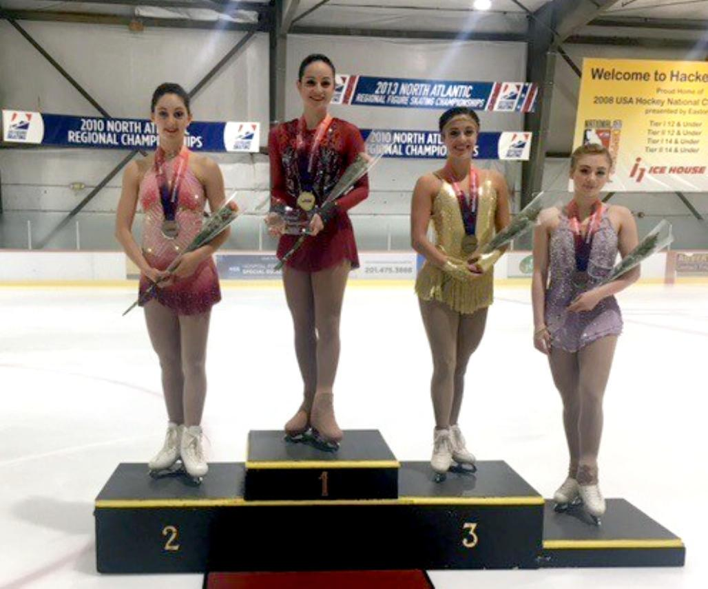 Katie McBeath (1st, Westminster FSC); Olivia Serafini (2nd, SCNY); Jordan Bauth (3rd, Buffalo SC); Haley Beavers (4th, SCNY)